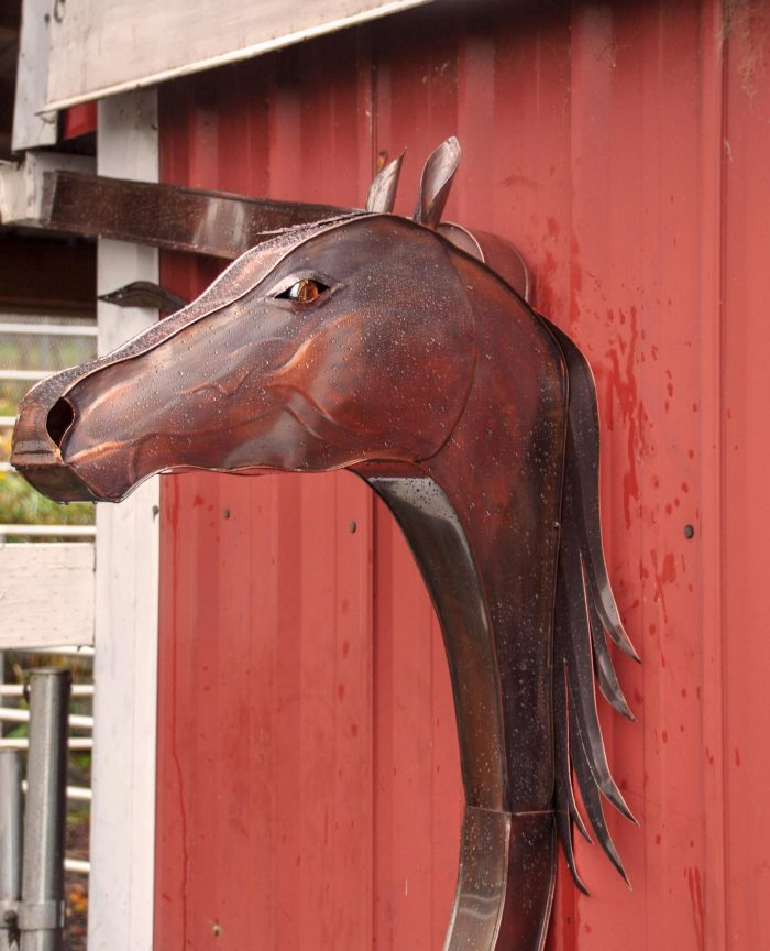 Copper Horse Downspout