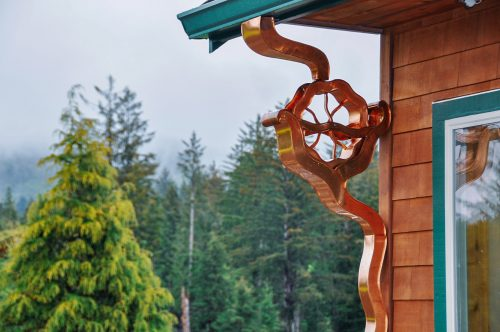 Water Wheel Downspout